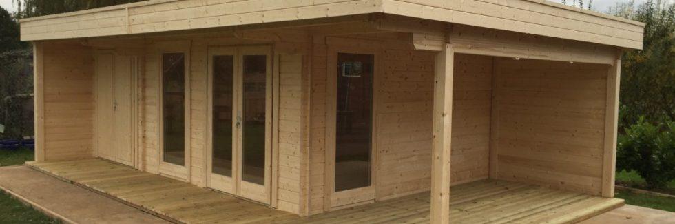 Garden Log Cabin Hansa Lounge XXL