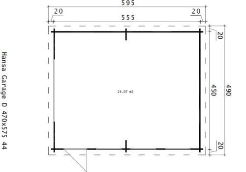 Large Timber Garage D ground plan