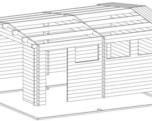 Large Wooden Garage Hansa B