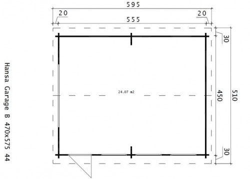 Large Wooden Garage Hansa B Ground Plan
