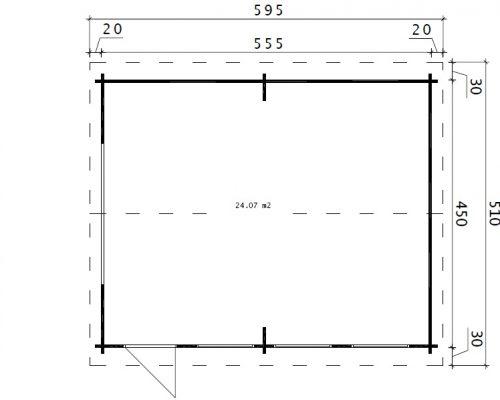 Large Wooden Garage Hansa B Ground Plan