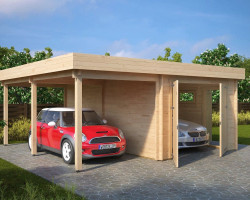 Garage with Carport Type H