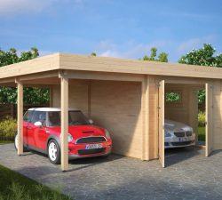 Garage with Carport Type H