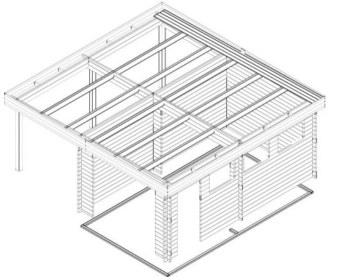Garage and Carport Combined Type H