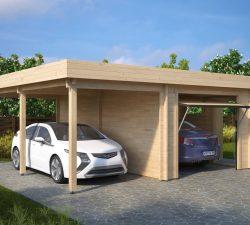 Garage-Carport Combined Up and Over Doors Type H