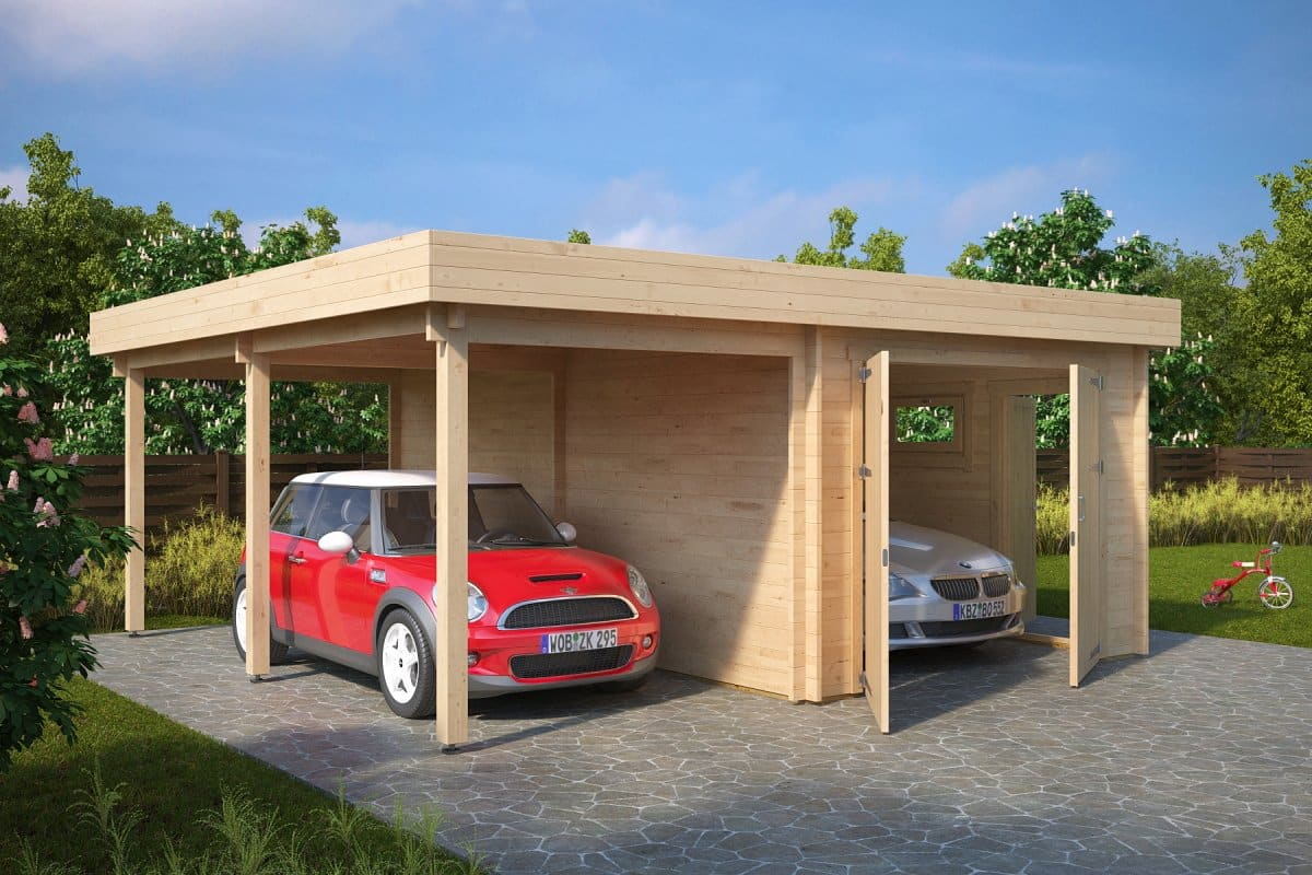 garage and carport combination type h 44mm 6 x 6 m