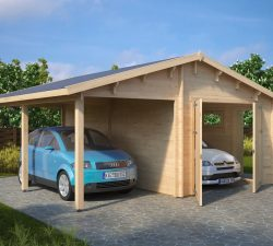 Summer house 24 garden rooms summer houses in uk online for Garage and carport combination