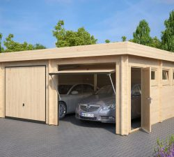 modern-double-wooden-garage-f-with-up-and-over-doors
