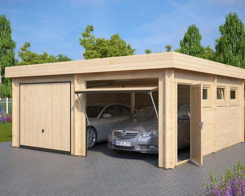 Modern Wooden Garage F
