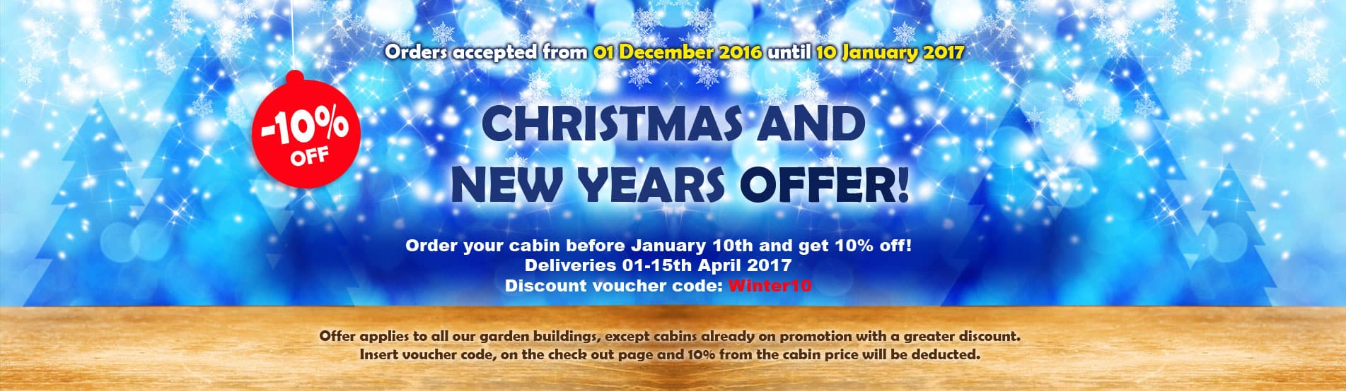 Christmas and New Years Offer