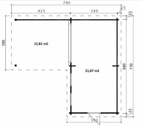 Corner Deluxe A ground plan