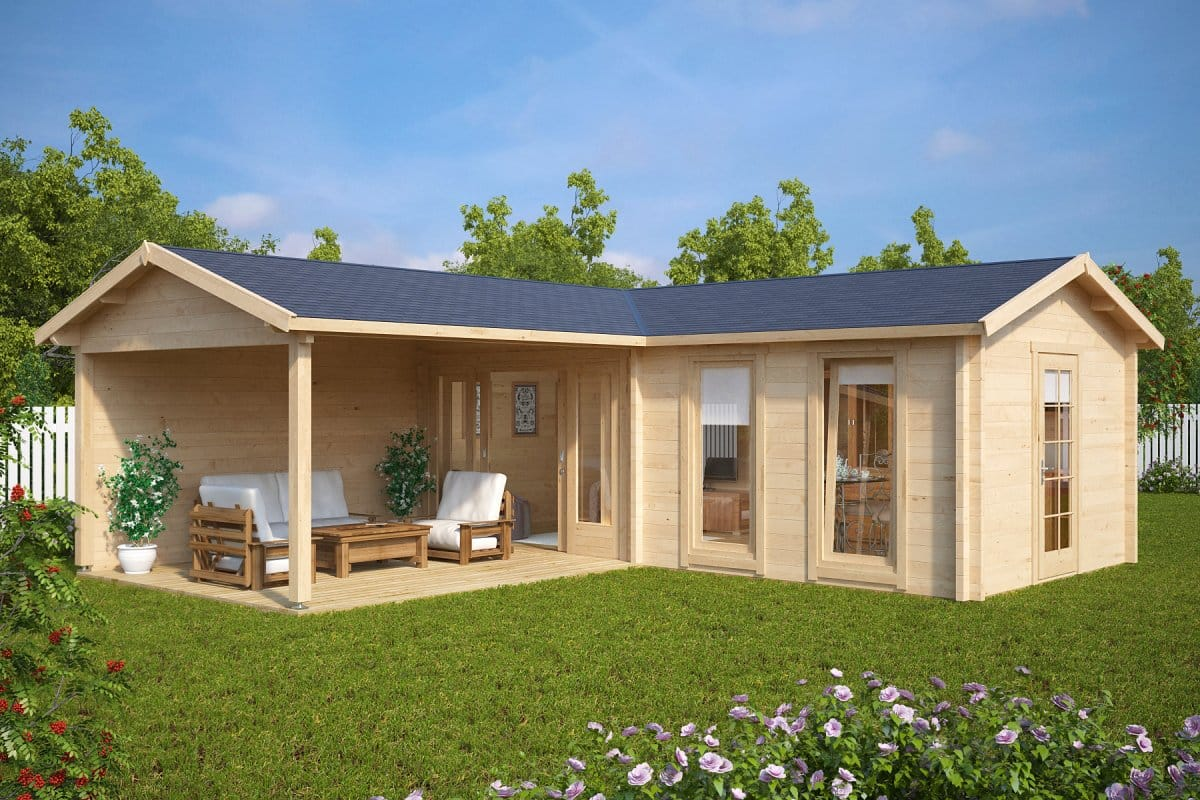 new garden rooms and log cabins for 2017 season summer house 24. Black Bedroom Furniture Sets. Home Design Ideas