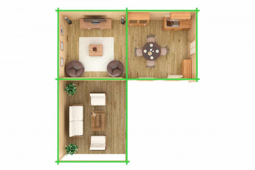 Large Corner Garden Room with Veranda Hansa B