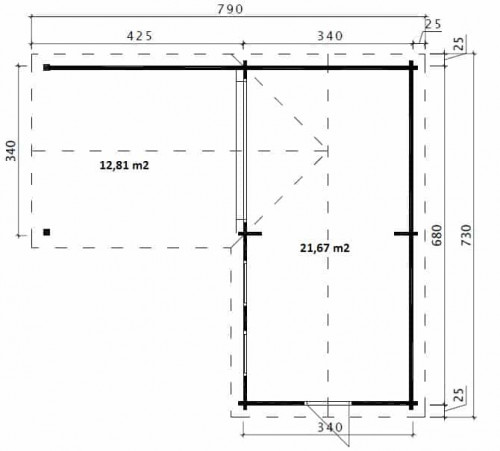 Corner Deluxe B ground plan