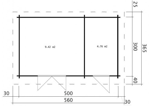 Double Shed C ground plan