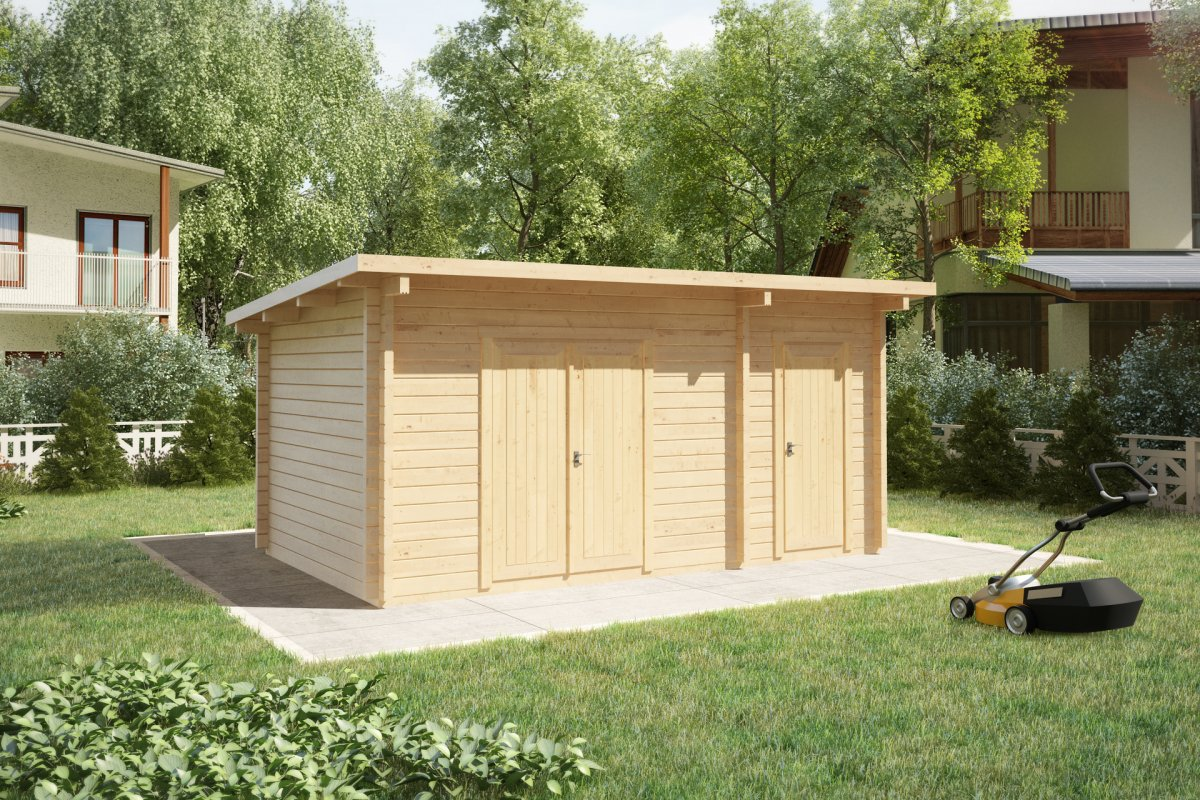 Double Shed Type C 44mm 3 X 5 M Summer House 24