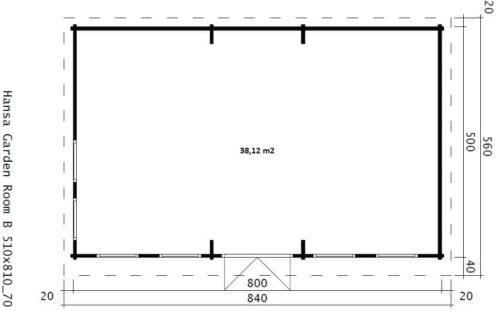 Garden Room B ground plan