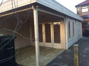 Garden Room with Shed and Veranda Summerhouse24 1