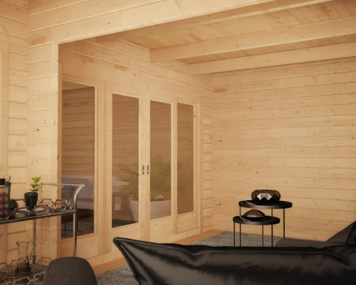 Corner Summer House with Large Veranda Hansa A