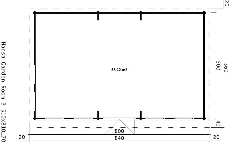 The Garden Snooker Room 38m2 70mm 8 X 5 M Summer