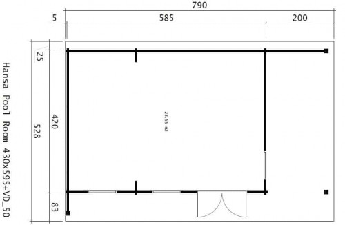Hansa Garden Pool Room InteriorHansa Garden Pool Room Ground Plan