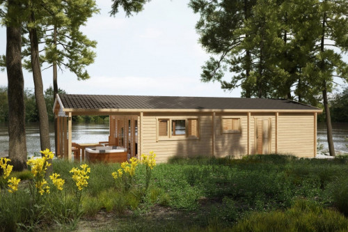 """Large Log Cabin Holiday A """"The Lake House"""""""