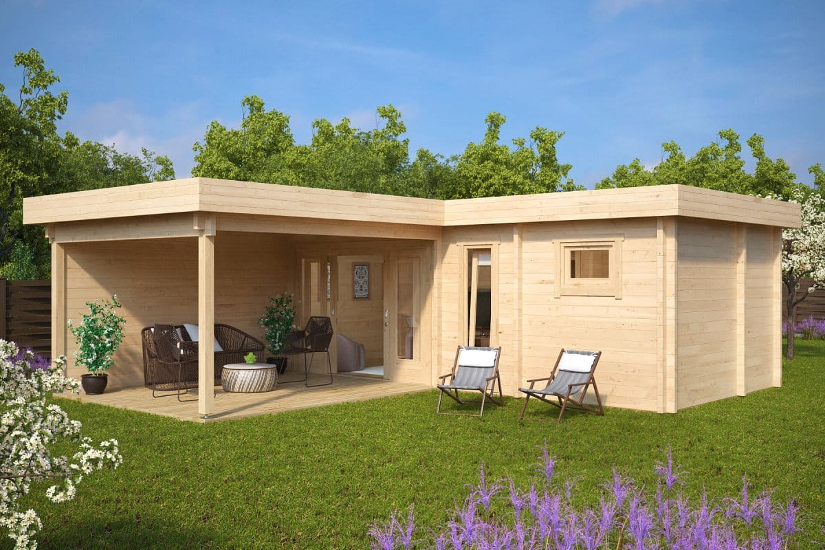 Garden sauna cabin a 22m2 70mm 7 x 3 m summer house 24 for Sauna for house