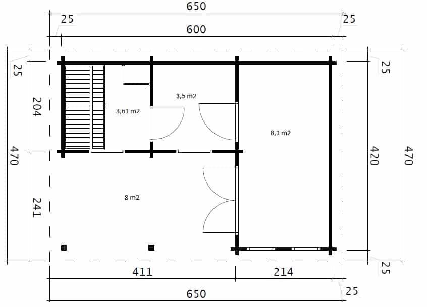 Sauna Oliver I ground plan