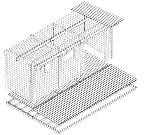 Sauna Oliver II 3D
