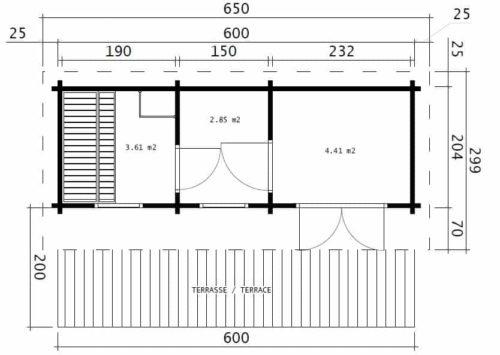 Sauna Oliver II ground plan