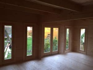 Garden room interior
