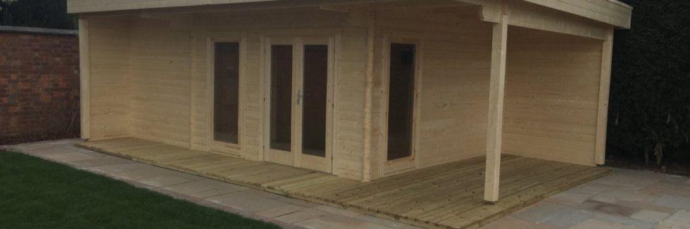 Garden Summer House with Sauna
