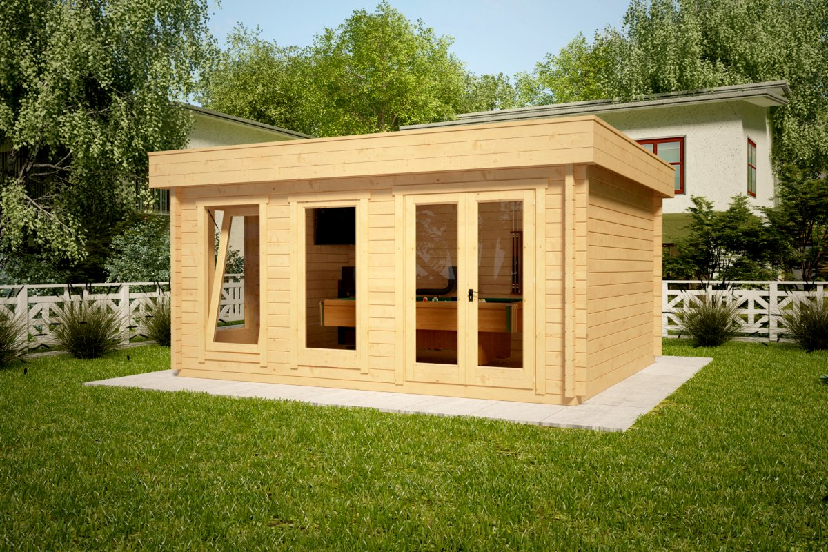 Large Garden Summer House Ian D 18m² / 58mm / 5 X 4 M
