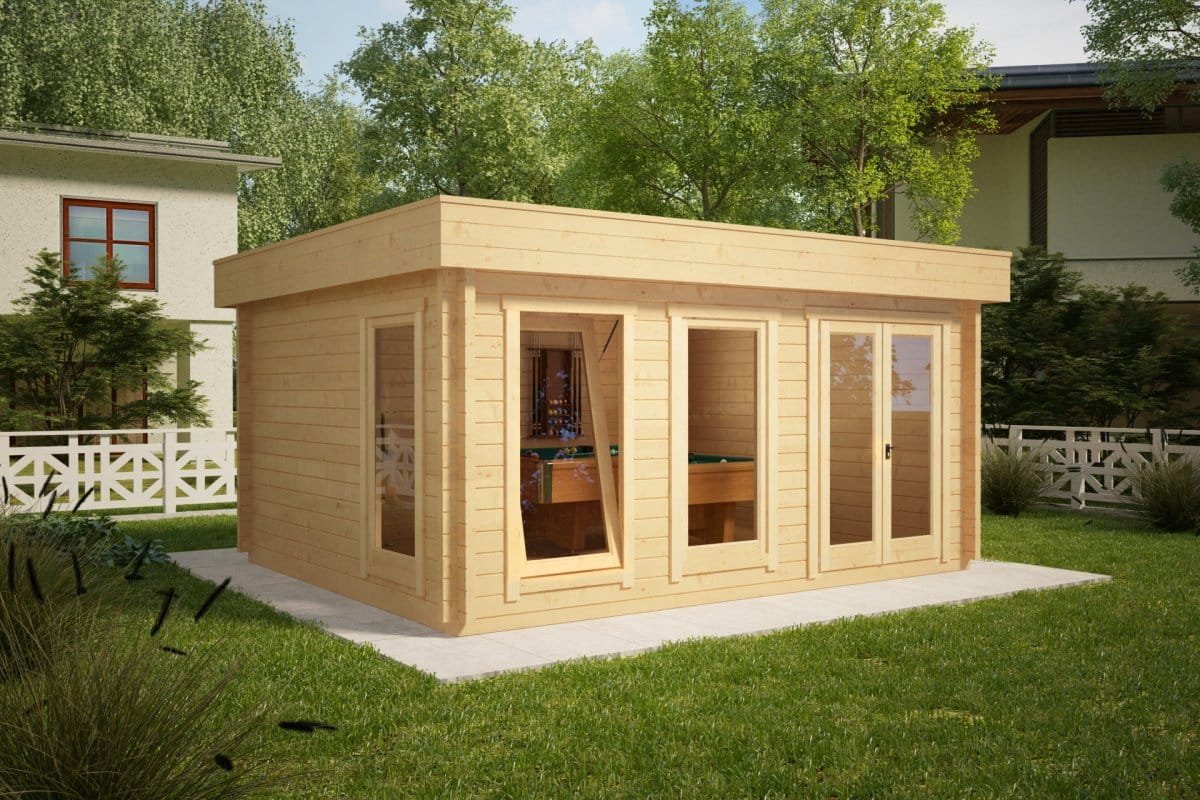 Large Garden Summer House Ian D 18m² / 58mm / 5 x 4 m – Summer House 24