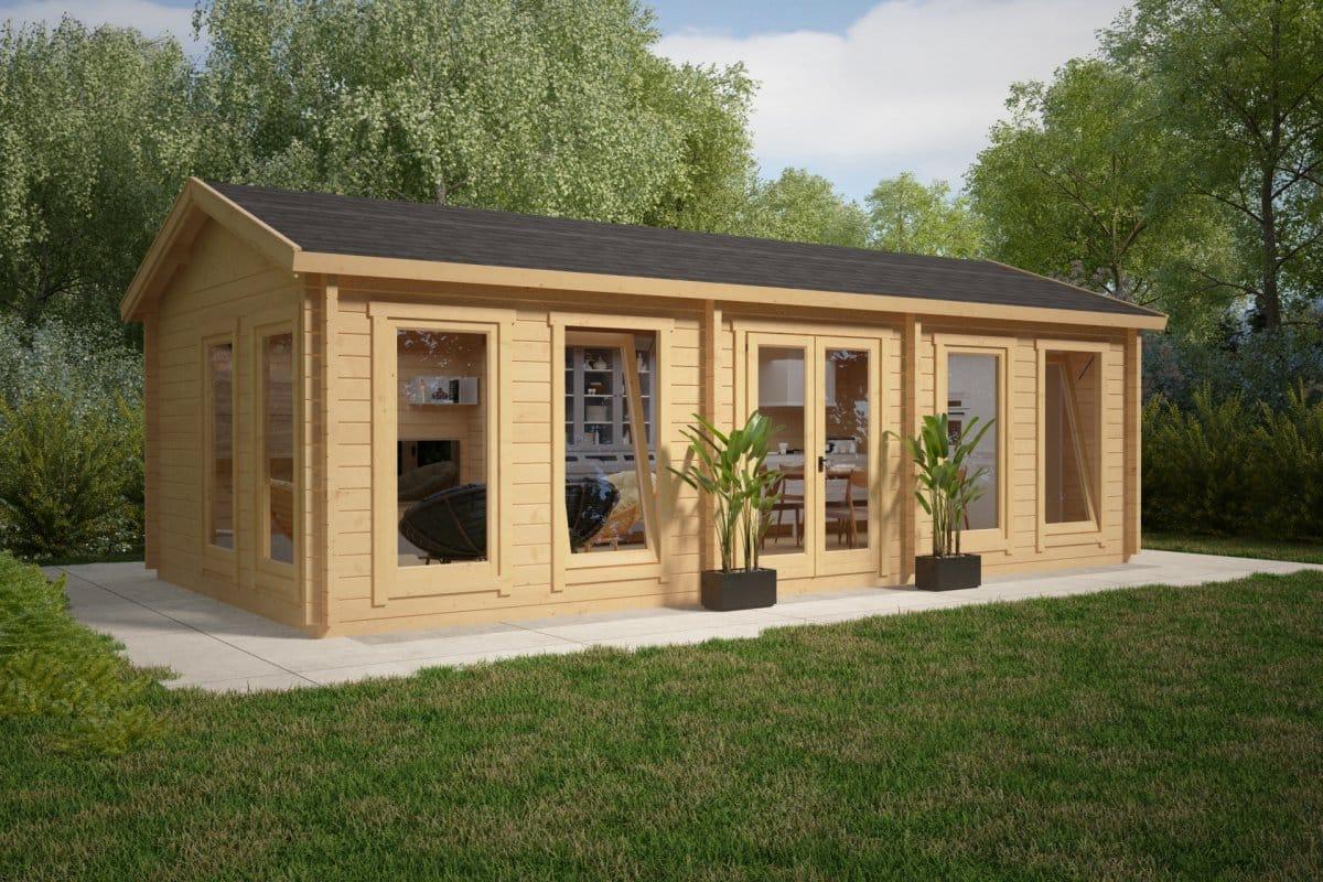 large garden room c 30m 70mm 4 x 8 m summer house 24. Black Bedroom Furniture Sets. Home Design Ideas