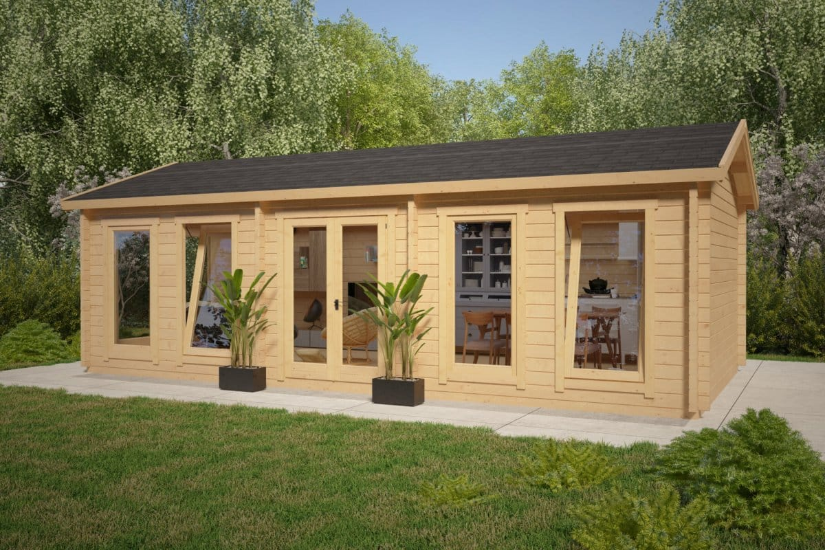 Large garden room c 30m 70mm 4 x 8 m summer house 24 for Large garden room