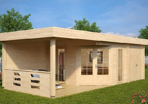Summer House with Shed