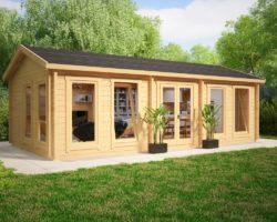 Large Garden Log Cabins - Beautiful Design - Summerhouse24