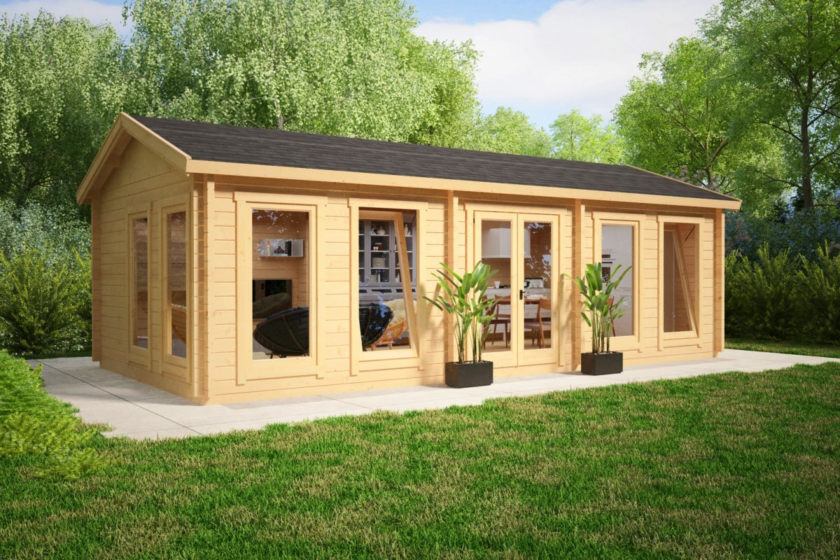 Large garden room c 30m 70mm 4 x 8 m summer house 24 for Tiny garden rooms