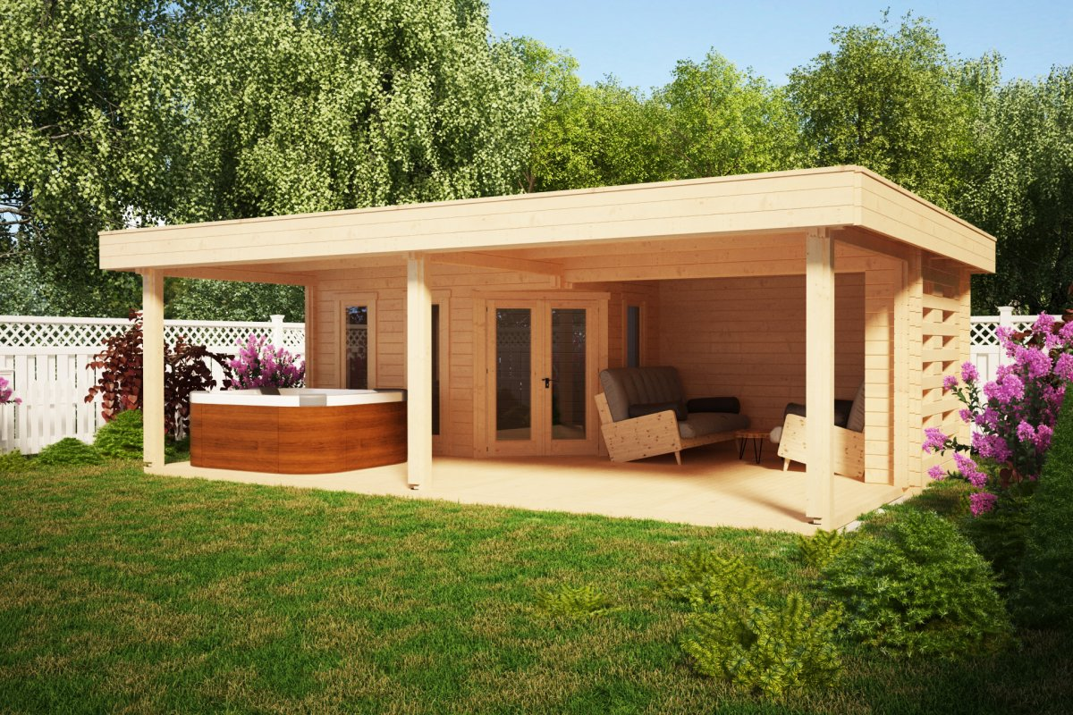Large Garden Shelter Garden Paradise A 10m2 58mm 8 X 6