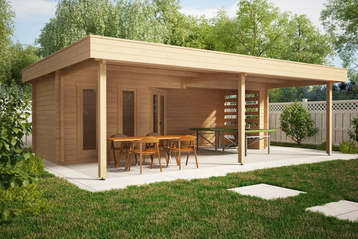 Large garden shelter garden paradise b 10m2 58mm 8 x 6 for 10 x 8 garden room