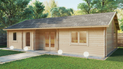 Two Bedroom Summer House Dune 70m2 / 70mm / 12 x 6 m