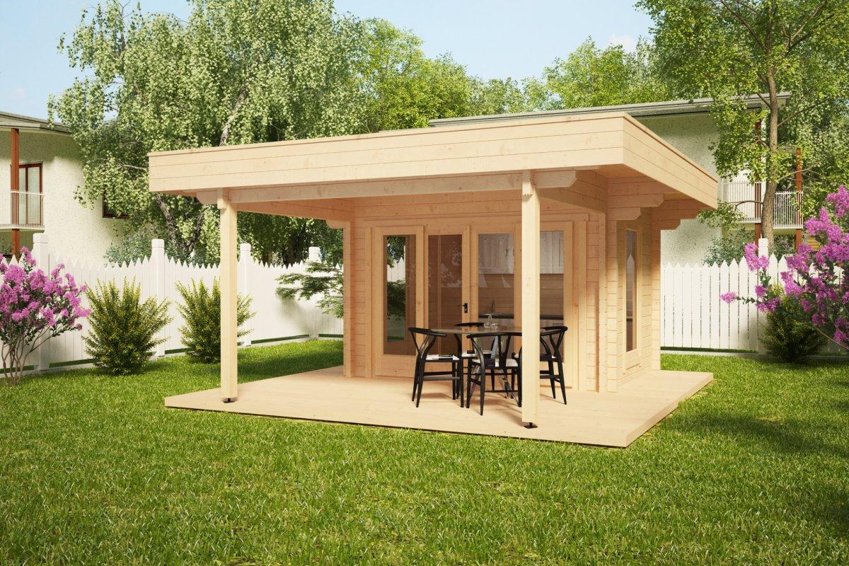 Summer kitchen garden room remo 2 8m2 44mm 5 x 5m for Garden room kitchen