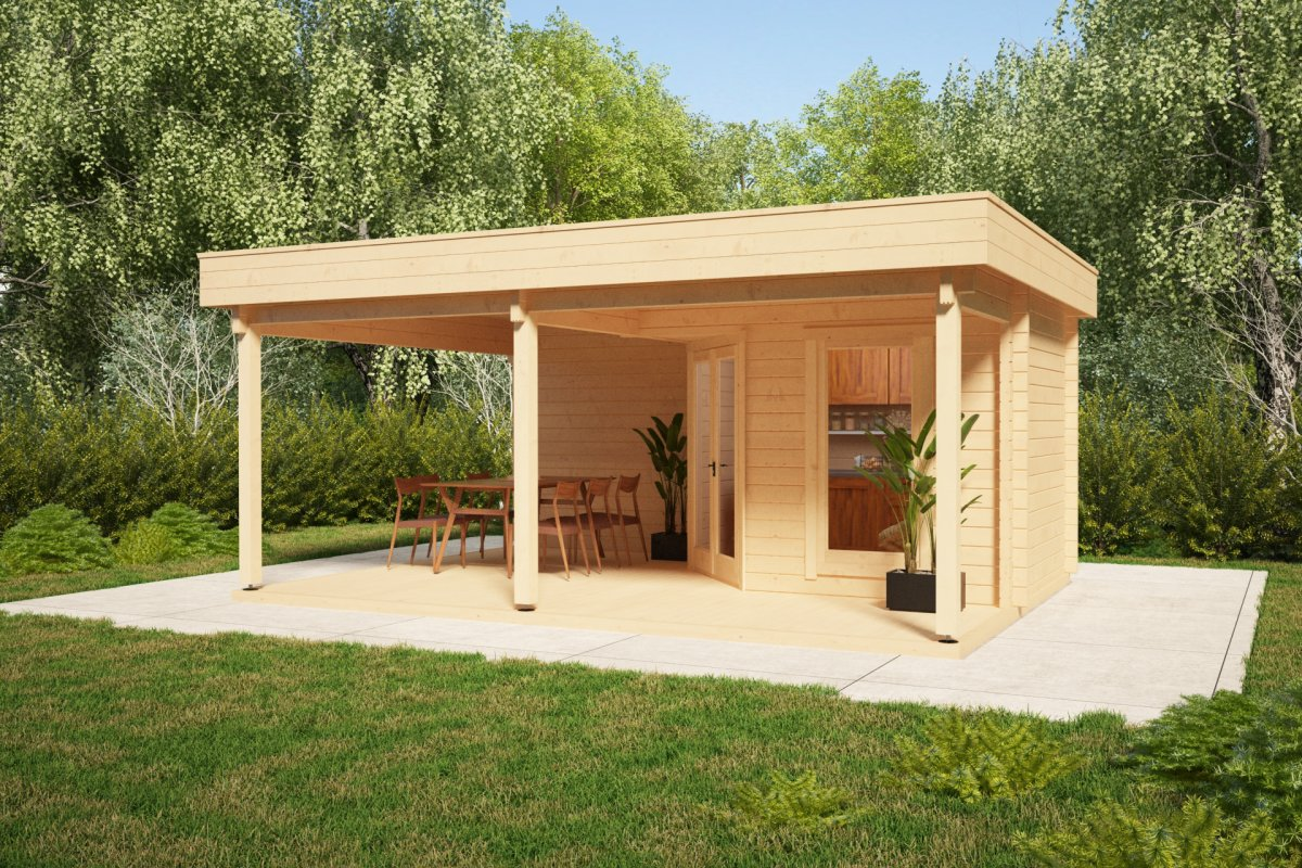 Garden Room With Terrace Remo 3 6m2 44mm 4 X 6m