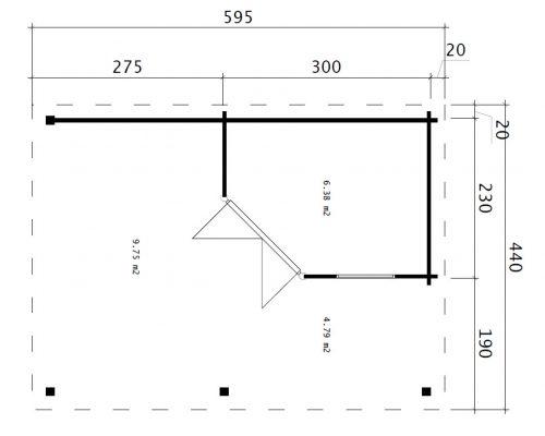 Garden building Remo 3 floor