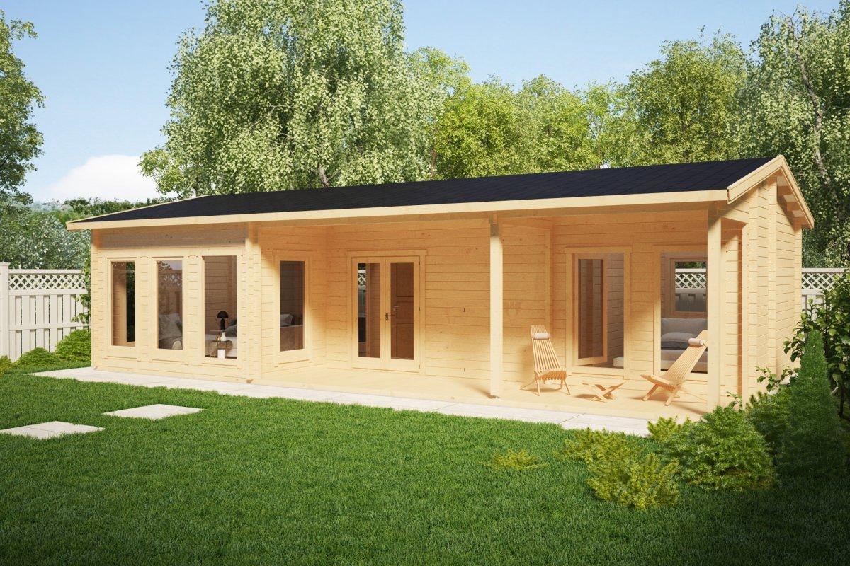Large log cabin summer house hansa holiday c m