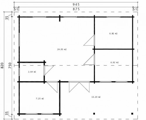 Holiday D ground plan