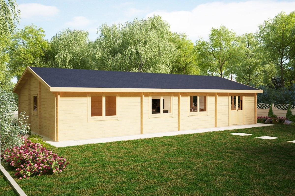 Three Bedroom Log Cabin Cottage Hansa Holiday G 100m2 14