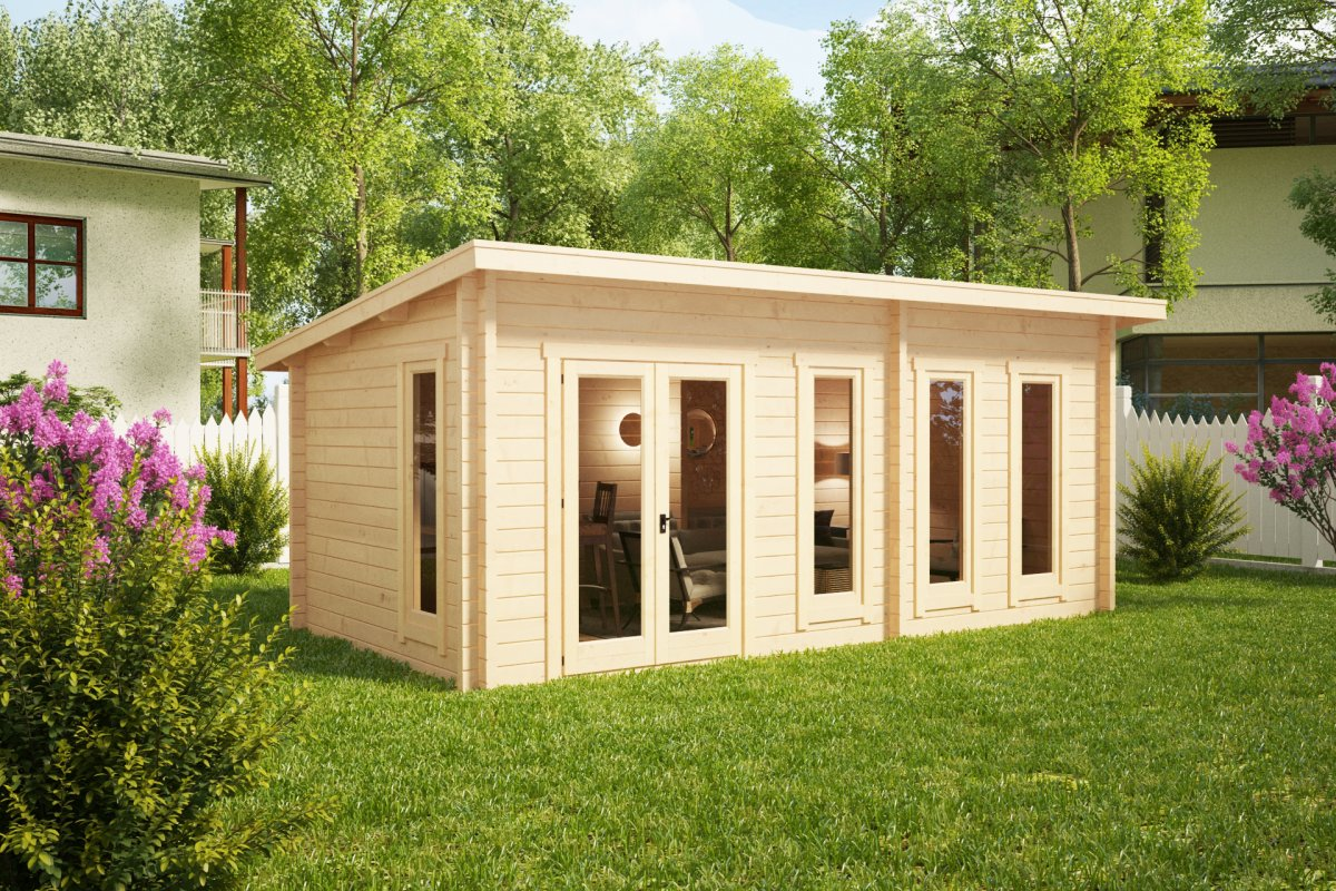 garden room liam 16m2 6 x 3 m 44mm summer house 24. Black Bedroom Furniture Sets. Home Design Ideas
