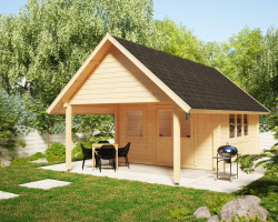 Garden Log Cabin Mark